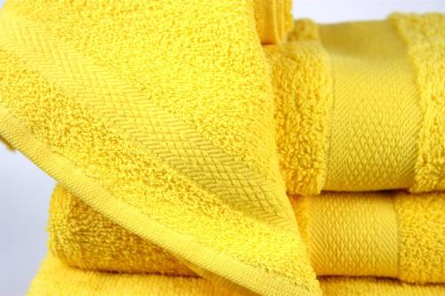 Полотенце махровое желтое