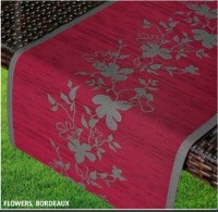 Раннер Friedola Flowers Bordeaux 25602 40х150 см
