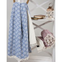 Плед микроплюш Barine Diamond Throw denim 125x170 см