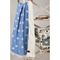 Плед микроплюш Barine Star Throw blue 125x170 см