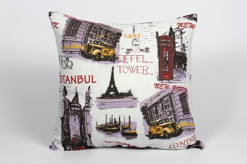 Подушка Iris Home Life Collection Capital 60x60 см